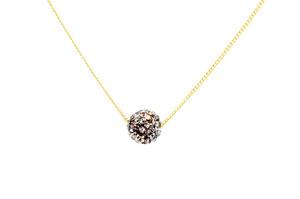 ラインストーンパヴェボールネックレス pve-neckblackdiamond1 ブラックダイヤモンド パヴェ キラキラ