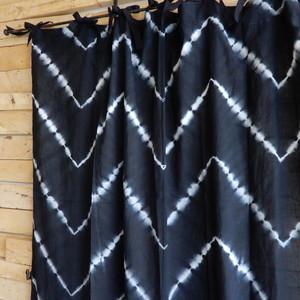 TOPANGA Shibori Curtain シボリカーテン W110xH200cm 黒