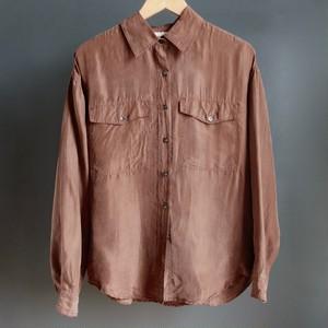oversized silk blouse