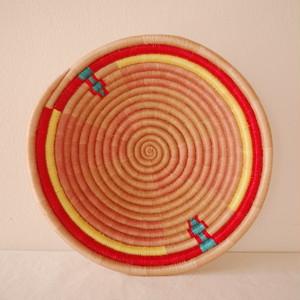 ルワンダバスケット (L) red natural