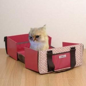 限定「ファッションバッグ型ペットトイレ」ピンク 送料無料!