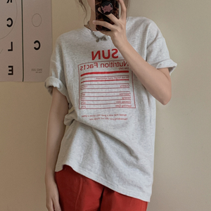 【トップス】ストリート系 ナチュラル レディース アルファベット Tシャツ48458669