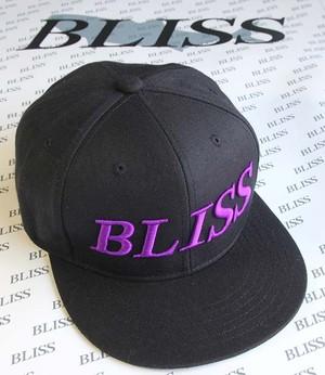 当店限定 BLISS フラットビルキャップ ブラック・パープル