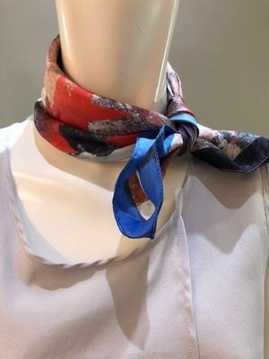 LARIOSETA イタリア製 シルクツイルプチスカーフ OK534/21562
