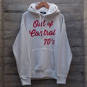 OUT OF CONTROL 70'S PULL OVER HOODIE col.wht