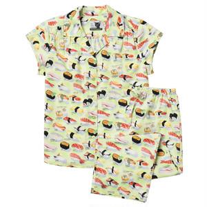 レディース パジャマ 半袖コットン The Cat's Pajamas Sushi Wasabi