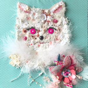Miaou Miaou ..Blue/Pink..