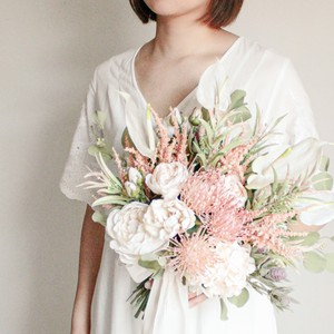 Pink×White Sweet Bouquet&Boutonniere