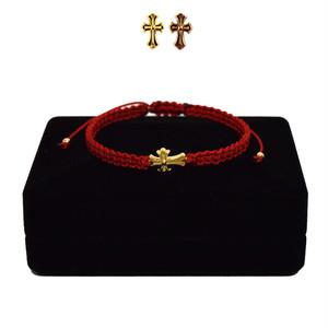 【無料ギフト包装/送料無料/限定】K18 Gold Baby Crux Bracelet / Anklet  Red【品番 21S2001】