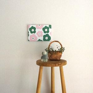 popy ( deep green × pink ) ファブリックパネル