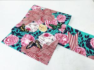 正絹染名古屋帯「薔薇とストライプリボン」パープル