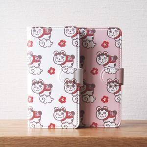 めでた福猫の手帳型スマホケース