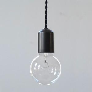 Socket Lamp Black Matte|陶器 黒マット