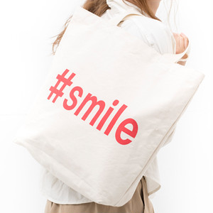 [ the HAMP works ] TOTE_BAG  A-4 : #smile