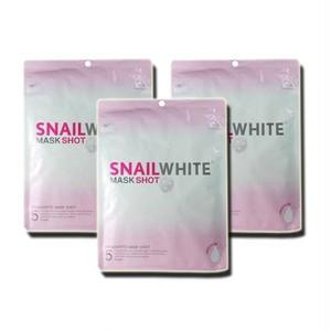 かたつむり ホワイト マスク パック/ SNAIL WHITE MASK SHOT 3パック/15枚