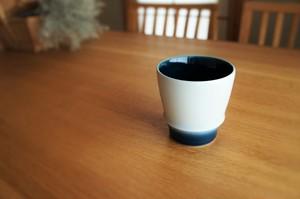 砥部焼/フリーカップ/内側青/ヨシュア工房