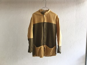 "TENDER Co.""FOLDED PKT SHIRT AWNING STRIPE YELLOW"""