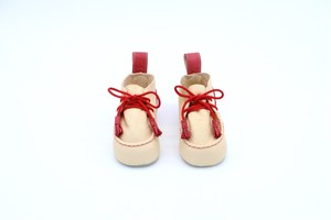 """Baby shoes tanned Yezo deer """"type red"""""""