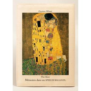 文庫ブックカバー Klimt(クリムト)スピーチバルーンのブックカバー:3センチの厚みだって楽々カバー