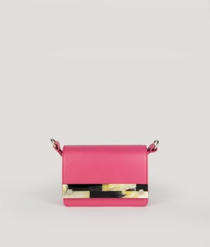 CROSSBODY NANO  FUCSIA EFFECT with MOSAIC HORN
