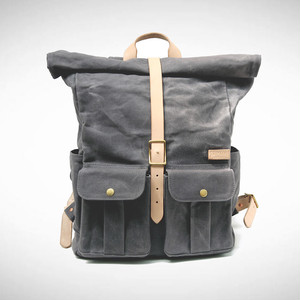 Astray Rolltop Backpack [Gray / Vachetta]
