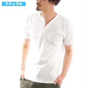 6.2OZヘンリーネックTシャツ メンズ 半袖 RankS