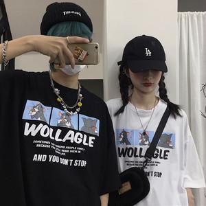 【トップス】韓国系レトロカートゥーンプリント半袖Tシャツ27358298