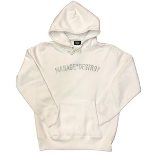 MANAGE*DESTROY / ARCH LOGO HOODY [WHITE]