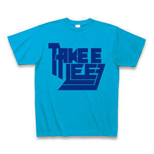 Take E Lee Tシャツ / デカロゴ / ターコイズ