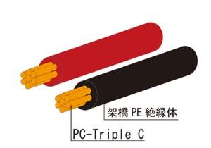 PC-Triple C 0.5sq PEX 黒 100M