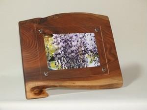 木製写真立て 壁掛け対応 No.2胡桃の天然木(KG-2)
