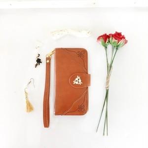 PAJOUR キャメル パンチングレザー手帳型スマホケース iPhone6 / 6s , iPhone7 , iPhone8