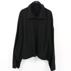 【美品】YOHJI YAMAMOTO POUR HOMME / ヨウジヤマモトプールオム | 2020AW | T/C WEST POINT 3OUT PK SHIRT 3ポケットロングシャツ サンプル品 | ブラック