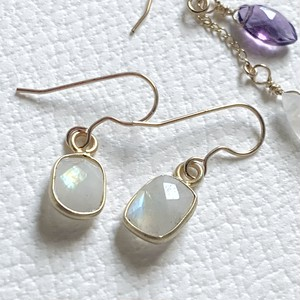 【JORIE】 レインボームーンストーン 14Kgf earrings
