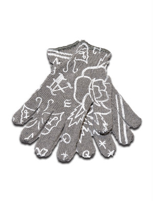 WARM GLOVES gray-white