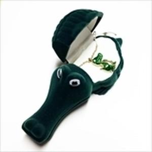 【ワニ 】Wildlife Garden アニマルペンダント 愛しい ベロアボックス ♡ ユニークな動物たち ペンダント 40cm アジャスタ付