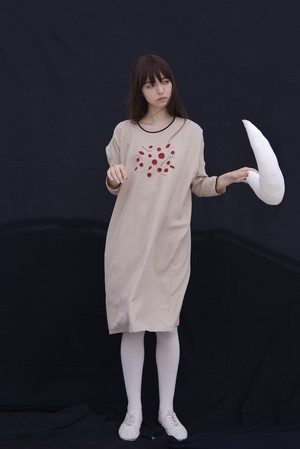 SILK VEGA DRESS BEIGE