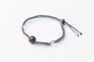 富士山溶岩ブレスレット[Lava Bracelet]水色X紺
