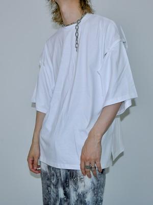 【UNISEX - 1 Size】SHOULDER BUTTON TEE / 2colors