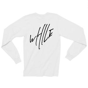 WHILE I REMEMBER Logo L/S Tee - White