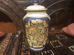 イタリア アンティーク陶器壺