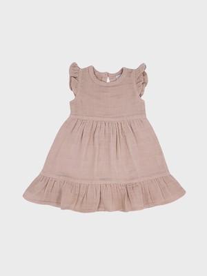 Petit Co. / Audrey Dress Light Beige Pink