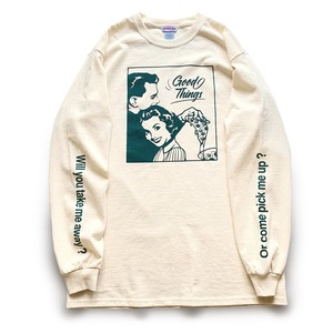 Season of love Long T-shirts ( Cream Green )