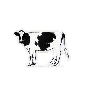 牛の刺繍ワッペン