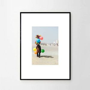 "MARIE BASTIDE / フォト+フレーム32cm×45 cm ""L'homme aux ballons"""