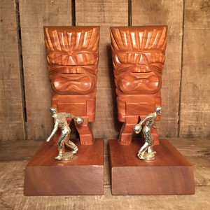 Vintage Hawaii Tiki Trophy Bookends