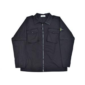 Stone Island Stretch Cotton Over Shirt Black 701510802