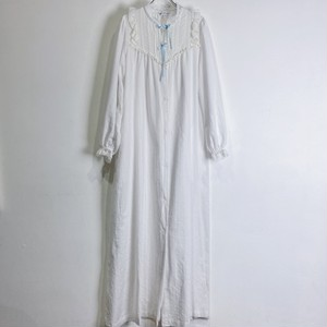 70s white frill dress