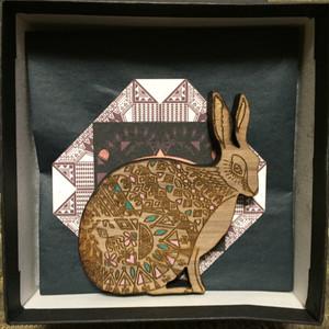 Hare Wood Brooch