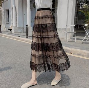 tulle lace skirt 3color